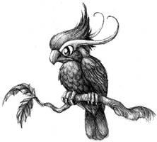A Perched Bird by aragornbird