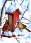 At the Birdfeeder by aragornbird