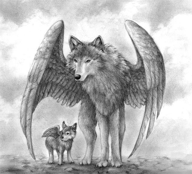 Winged Wolves by aragornbird on DeviantArt