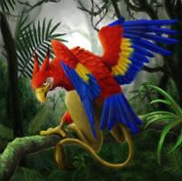 Macaw Griffon by aragornbird