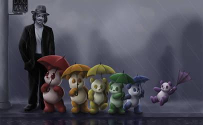 Johnny Depp and Pandas by aragornbird