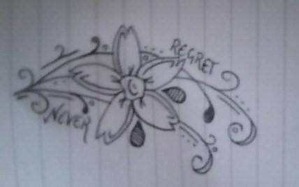 flower tattoos never regret flower tattoo. Black Bedroom Furniture Sets. Home Design Ideas