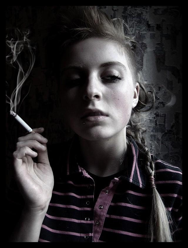 scissors smoke by ladymonroe