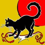 black cat by whiterabbitart