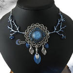 Dreamy Witch Forest Blue Necklace