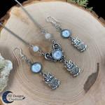 Owl jewelry set - Fantasy jewelry - Spirit Animals