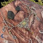 Silver leaf jaspis nature necklace