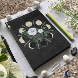 Moonflowers Moonphases Notebook Witch Journal