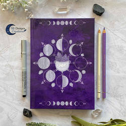 Moonphases Notebook Purple Witch Cauldron
