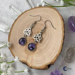 Celtic Heart stainless steel earrings