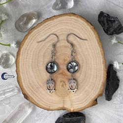 Owl Spirit Animal Earrings Stainless Steel
