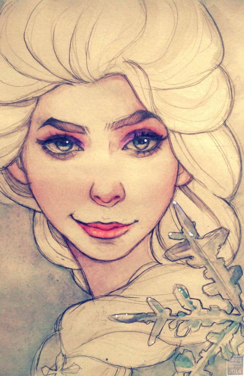 Frozen: Elsa by rinnemarielle