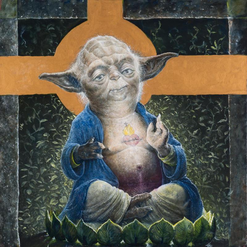 Sacred Heart of Yoda by ScottGBrooks