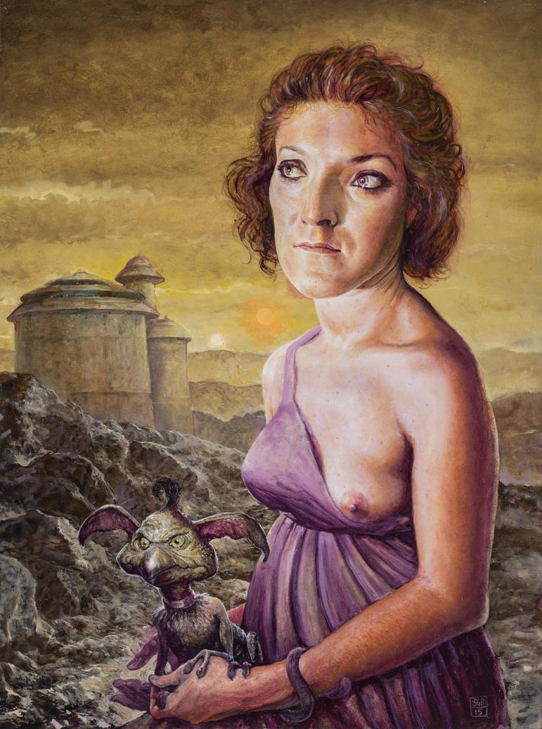 Tatooine Girl With Salacious Crumb by ScottGBrooks