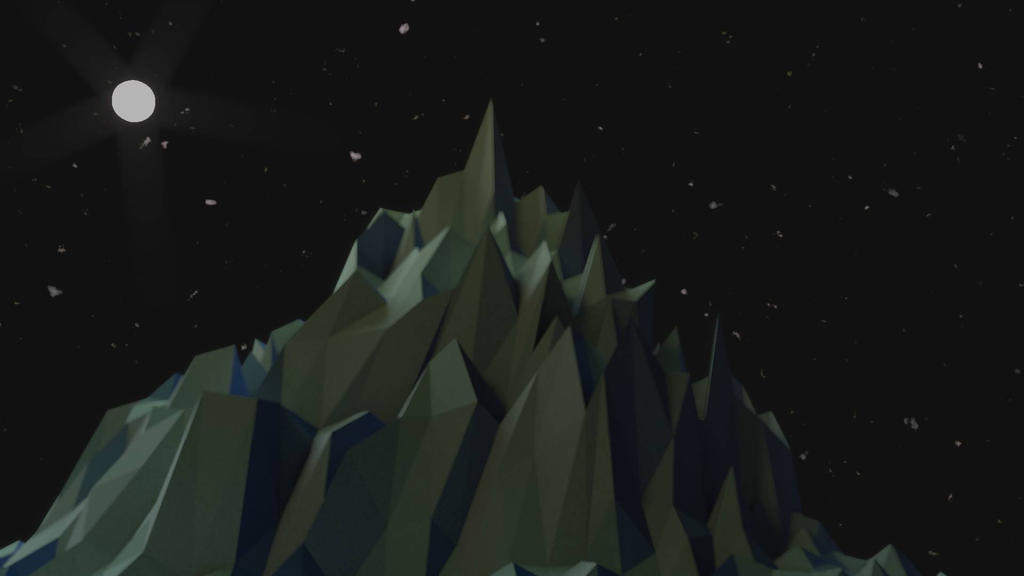 Mountain in the Night by Amintadefender