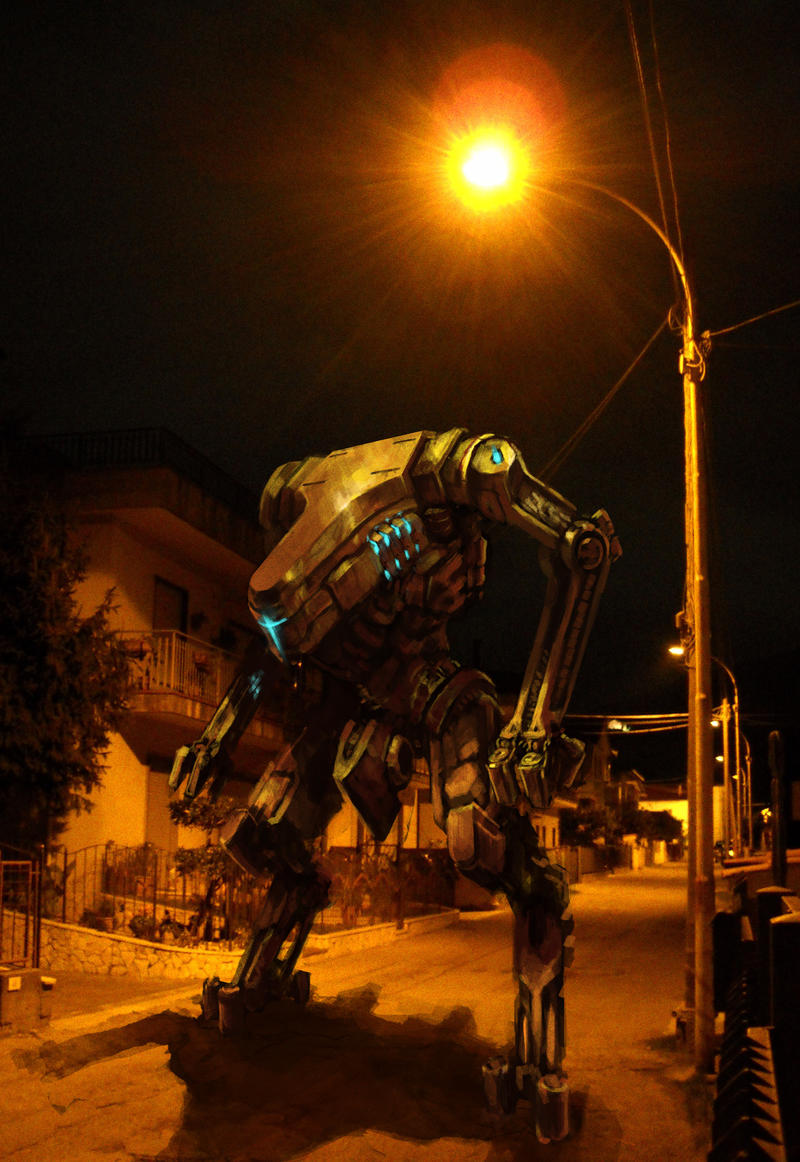 a mecha in my street!- by XRobinGoodFellowX