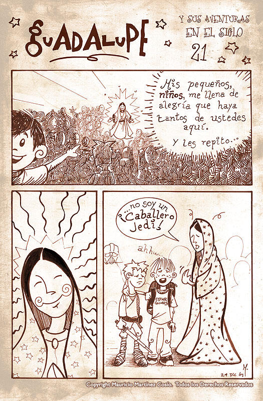 Virgen de Guadalupe -siglo 21-