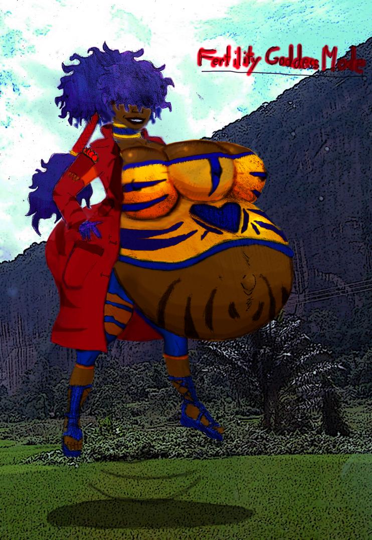 Fertility Goddess Nona Hovering by RedThousand