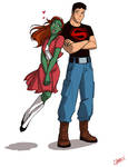 Miss Martian and Superboy