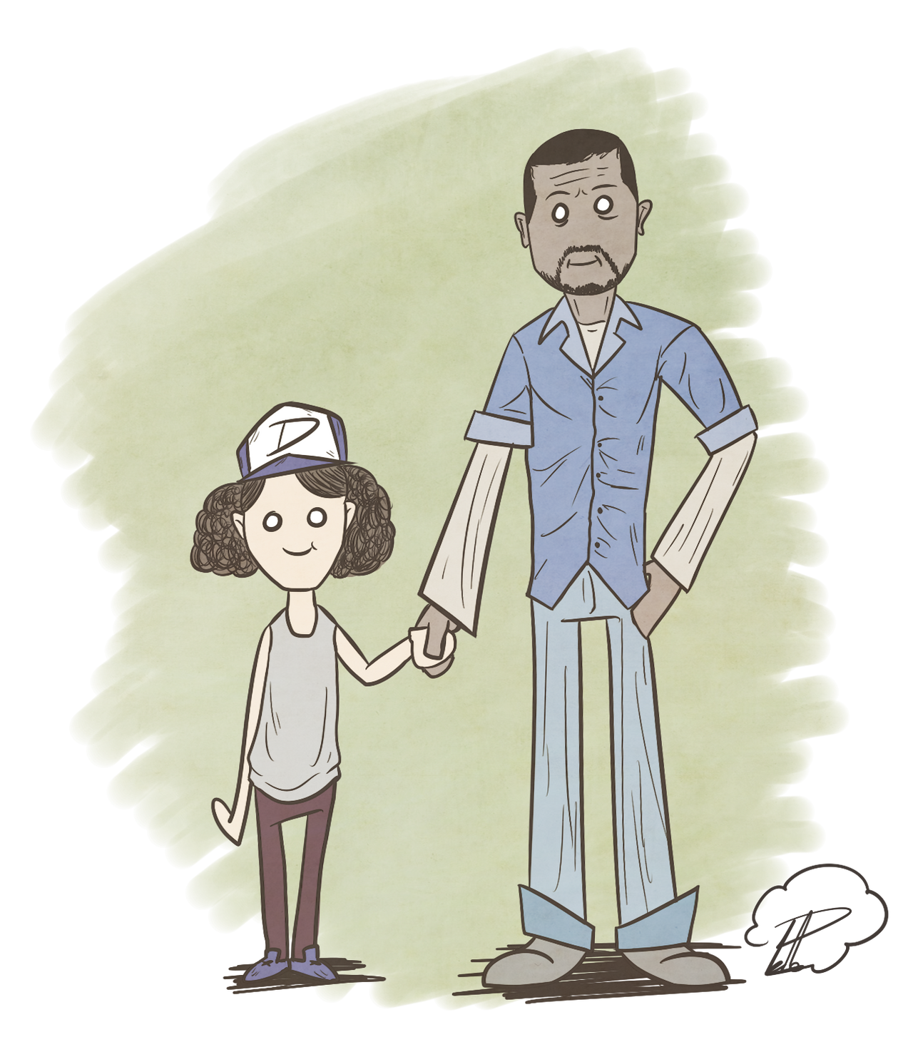 Lee and Clementine - The Walking Dead S1 by SrPelo