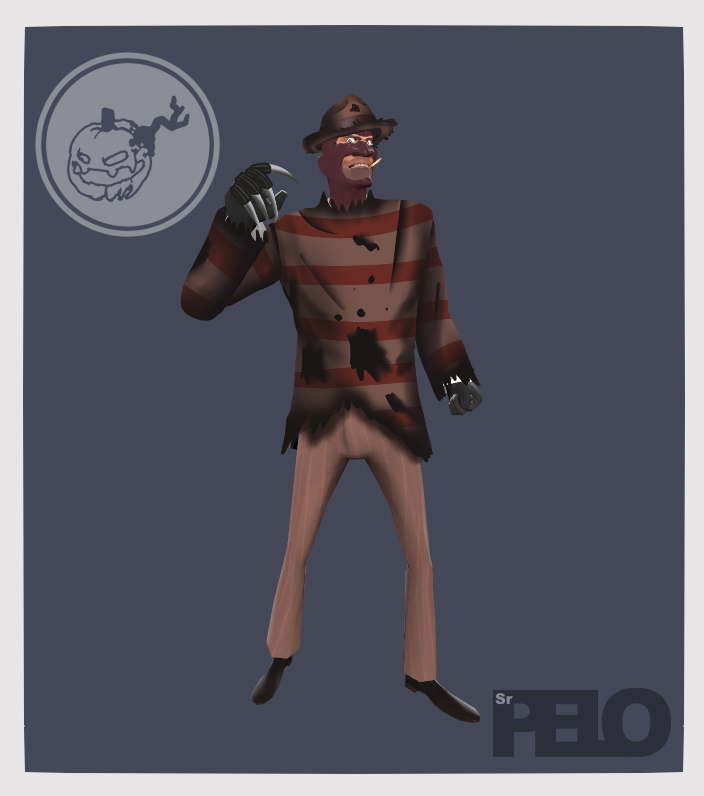 Halloween Concept TF2 - Spy Krueger by SrPelo