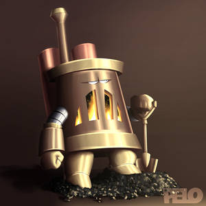 Furnace character - pose, lighting-