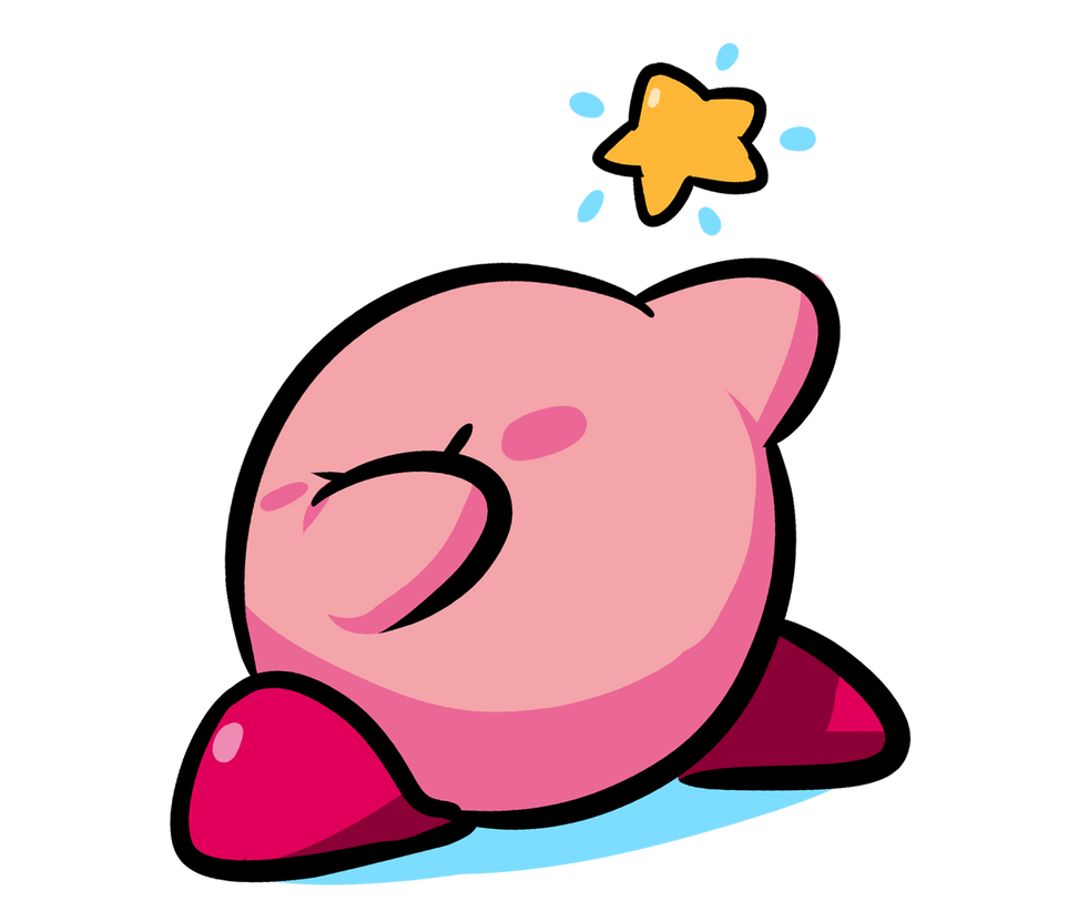 how to draw kirby in photoshop