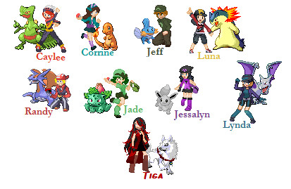 pokemon trainer sprites by darkKitsuneoflight