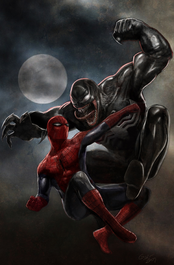 illustration Spiderman vs Veno by galindoart