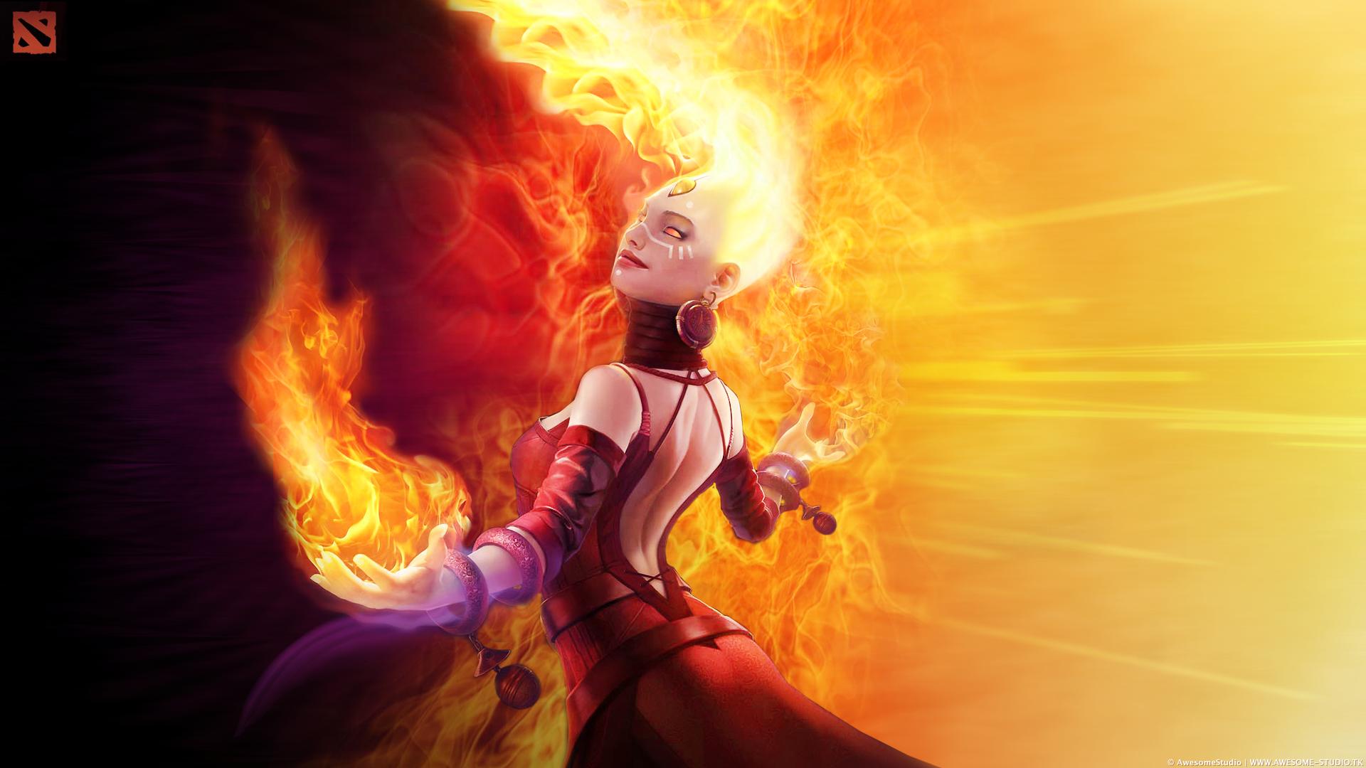 remaking the lina arcana fiery soul of the slayer dota2