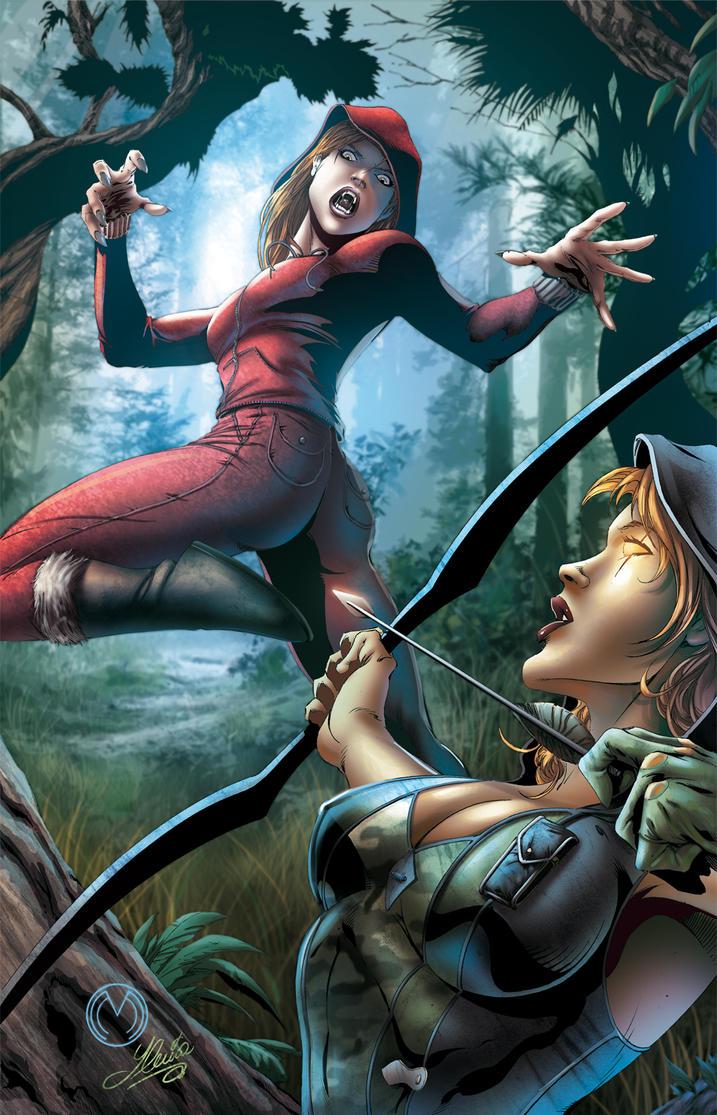 Robyn Hood vs Red Riding hood B by Yleniadn86