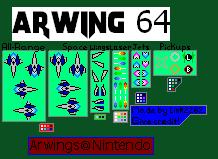 Starfox Arwing 64 Sprite Sheet by Link2262