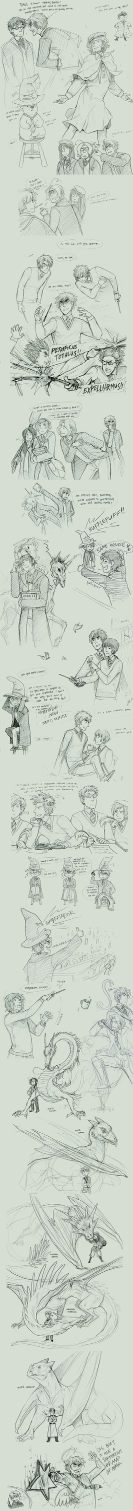 harry potter + the axis powers by Blue-Fox