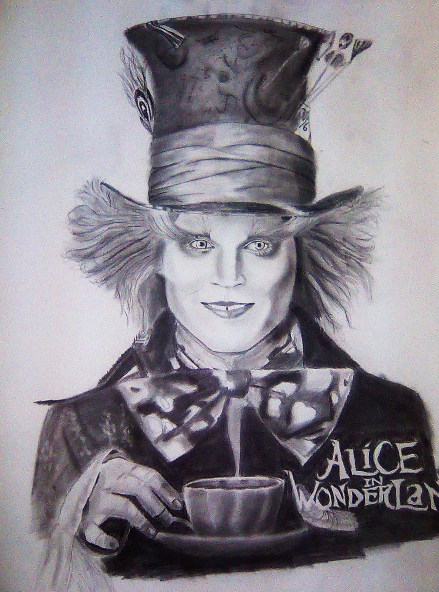 Johnny Depp Mad Hatter Drawing The Mad Hatter-Johnny ...