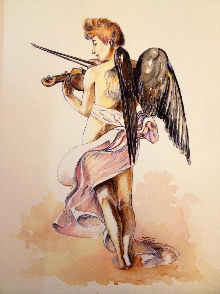 Caravaggio's Angel by Noosha77