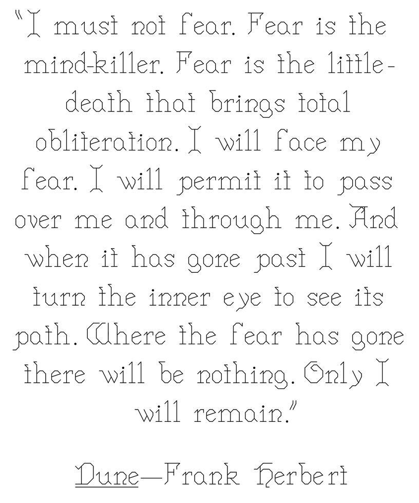 Fear is the mind-killer by Scienceandart