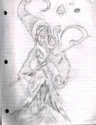 Genderbent(?) Grim Reaper by CosmicGalaxies