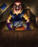 Hiding in the attic by CherilDevalet