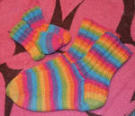 Wool socks for me and my baby! by Sifera