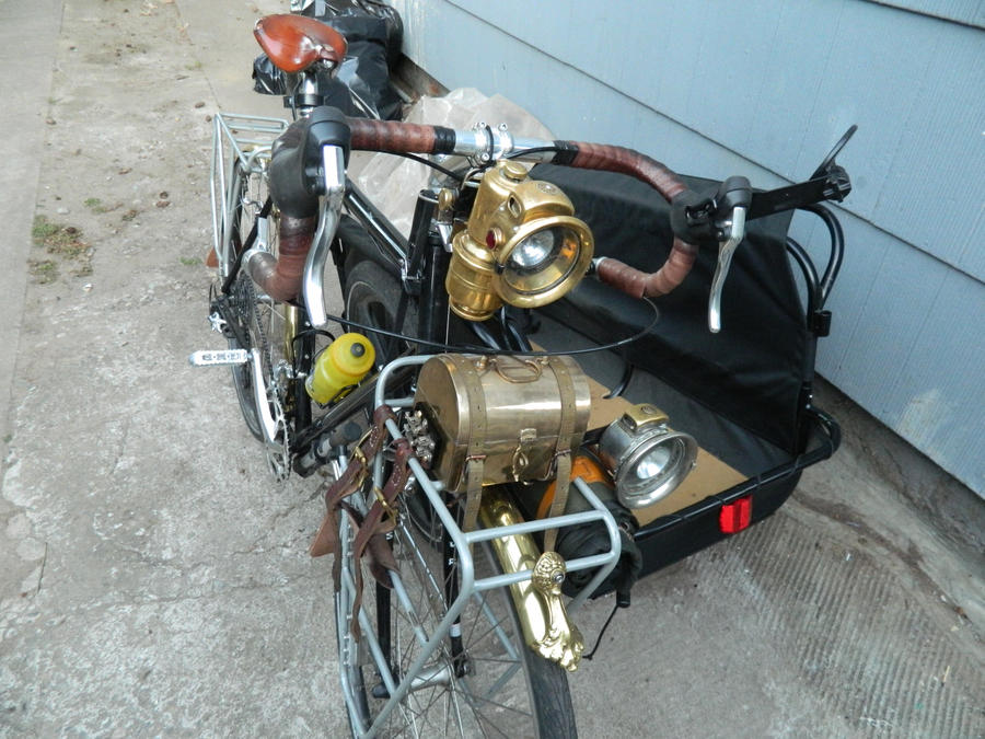 Steampunk Touring Bike Based On A Surly Lht By