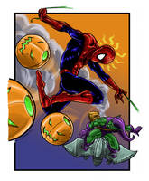 Spiderman vs green goblin by daborien