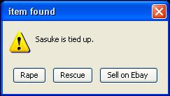 Sasuke is tied up by EmeraldOokami