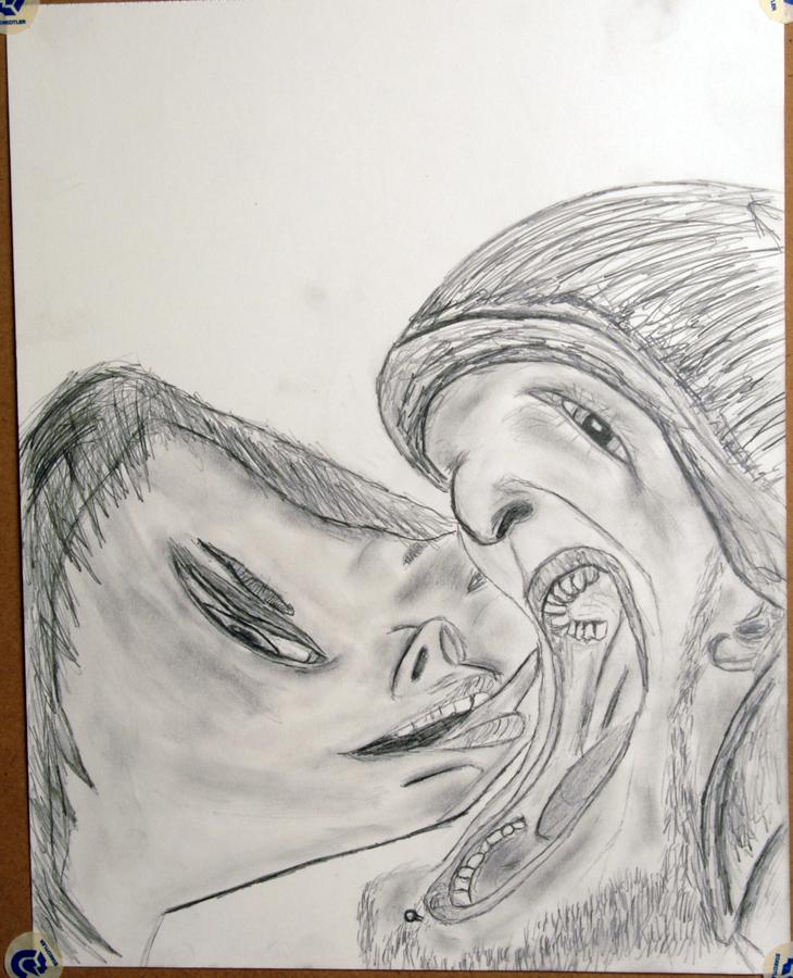 Man Eating Woman by dizzia