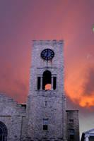 flaming church by dizzia