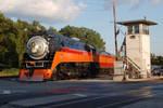 The orange in the blue