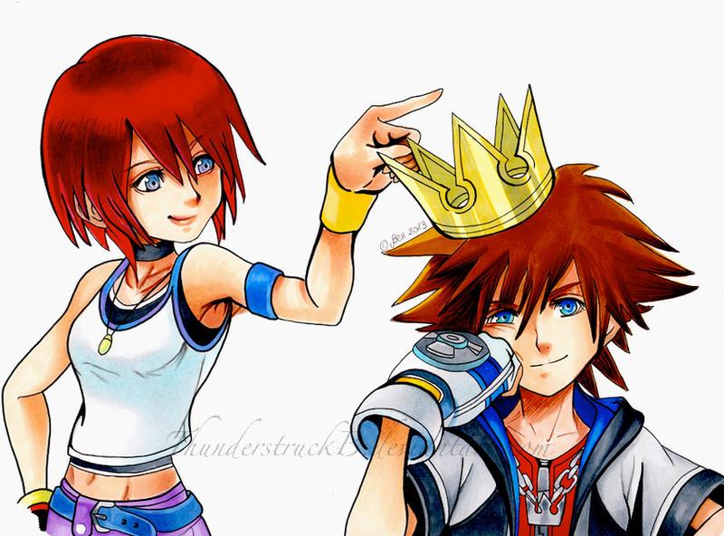 Sora and Kairi- Kings and Queens