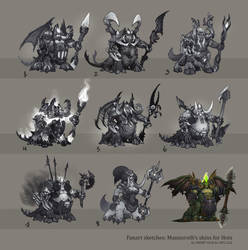 Fan Art | Sketches | Mannoroth's skins