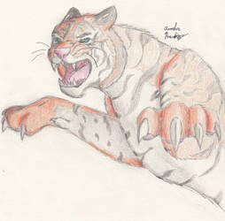 The Attack -- Colored Pencil by RisendeCabre
