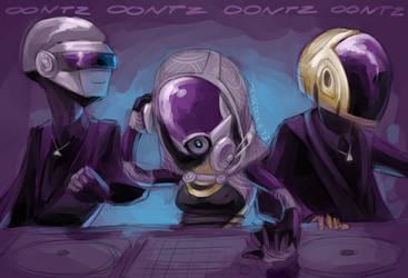 Tali'Zorah vas Daft Punk by Jesscookie