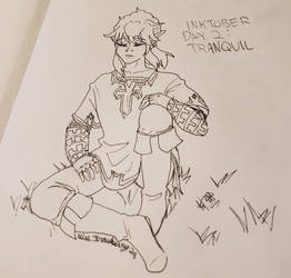 Inktober Day 2: Tranquil (late)  by MissStrawberry28